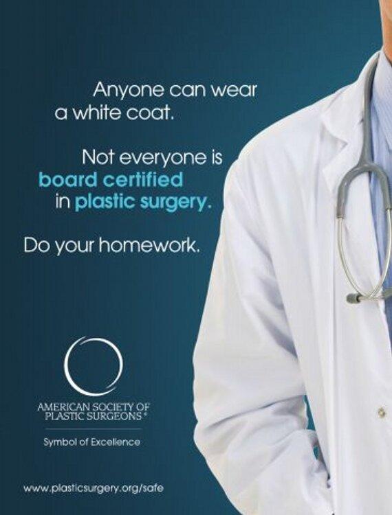 white coat ASPS ad
